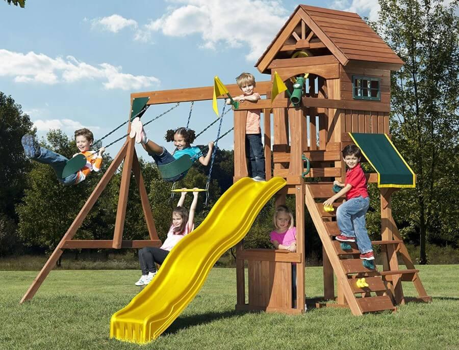 affordable-wooden-swing-set