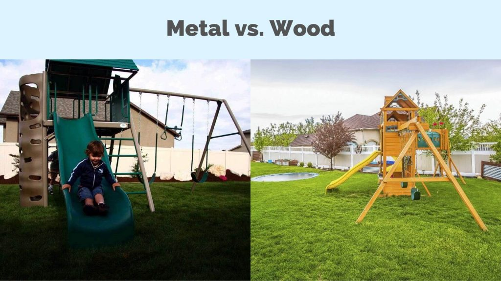 metal-or-wood-swing-set